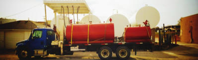 Rental Tanks loaded on a crane truck ready for delivery